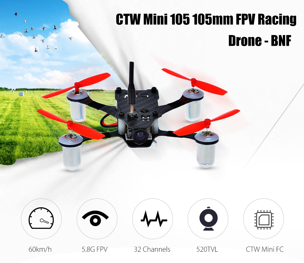 CTW Mini 105 FPV Racing Drone - PNP