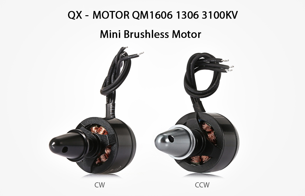 QX - MOTOR QM1606 1306 3100KV Mini Brushless Motor