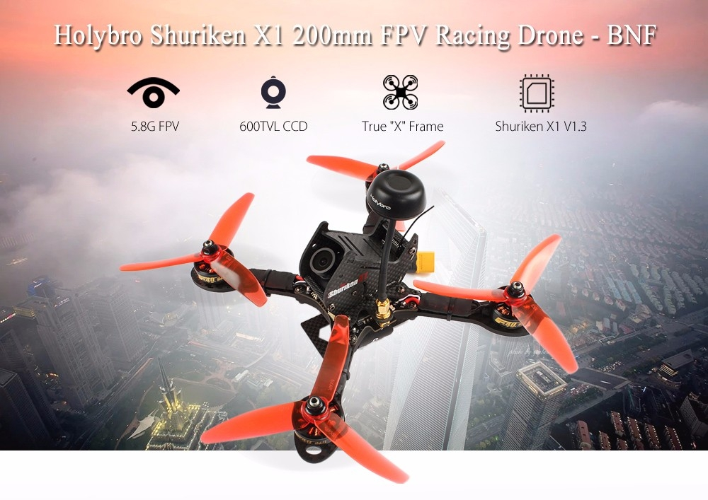 Holybro Shuriken X1 200mm FPV Racing Drone - BNF
