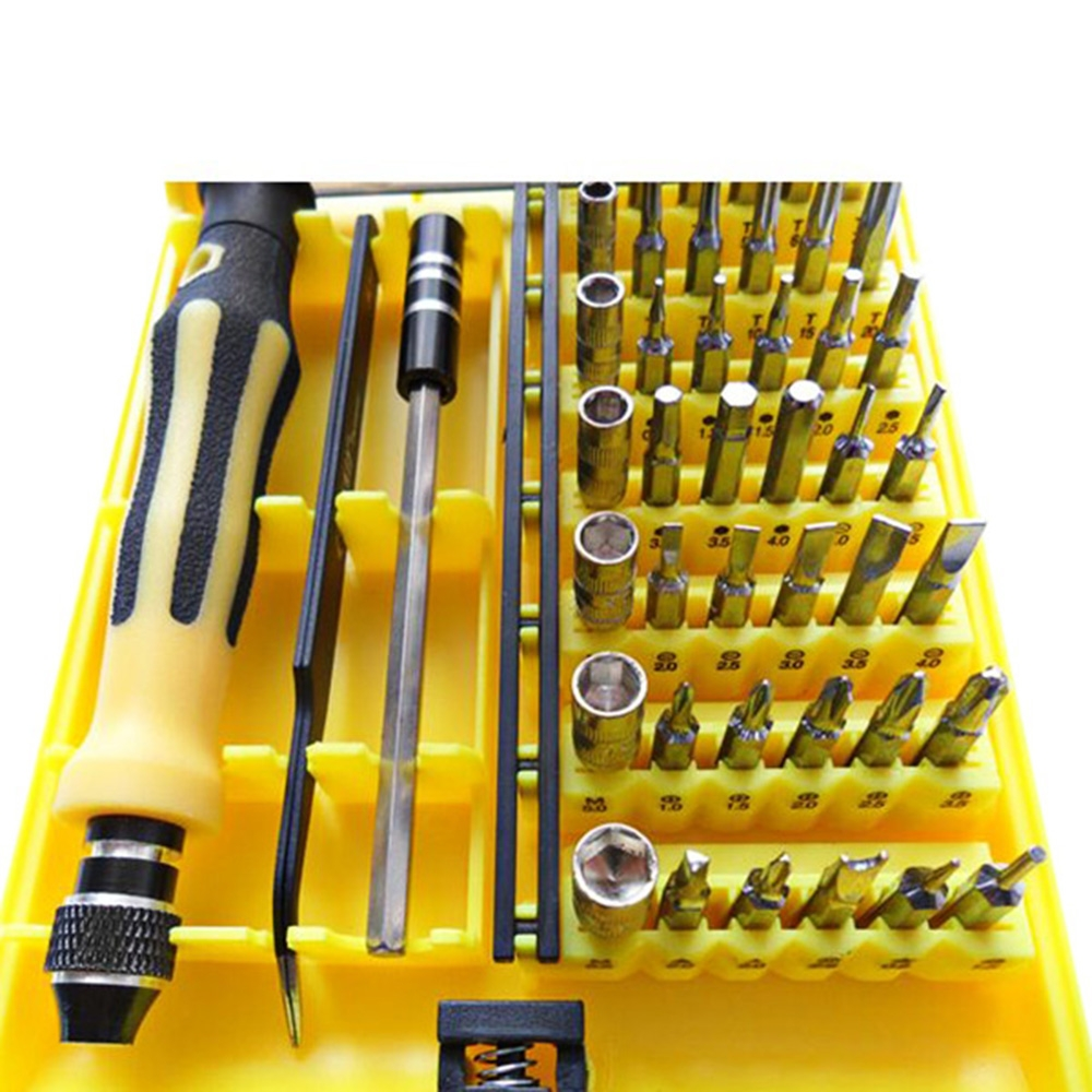 JACKLY 6089 A - type 45 - in - 1 Repair Opening Tool Kit Portable Precision Screwdrivers Disassembly Set