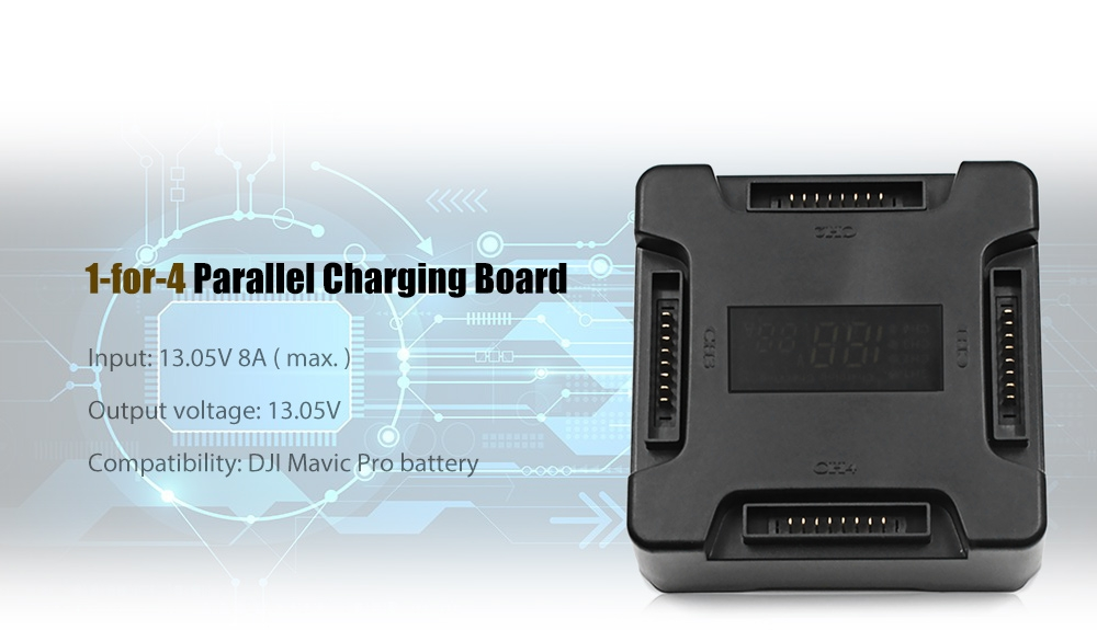1-for-4 Parallel Charging Board