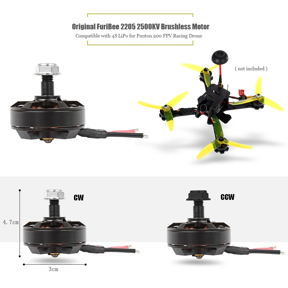 Original FuriBee 2205 2500KV Brushless Motor