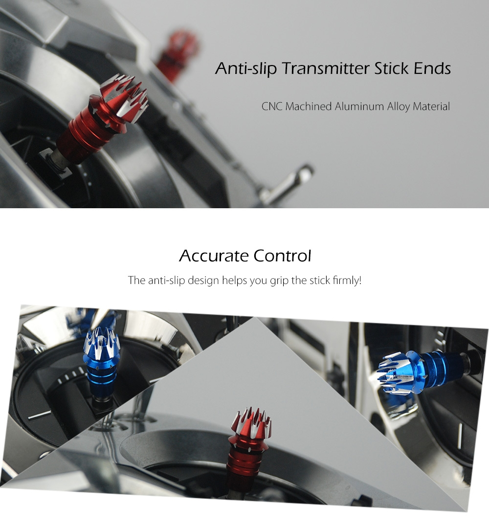 Anti-slip Transmitter Stick Ends