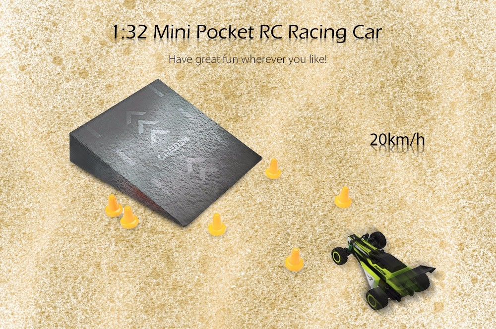 1:32 Mini Pocket RC Racing Car - RTR