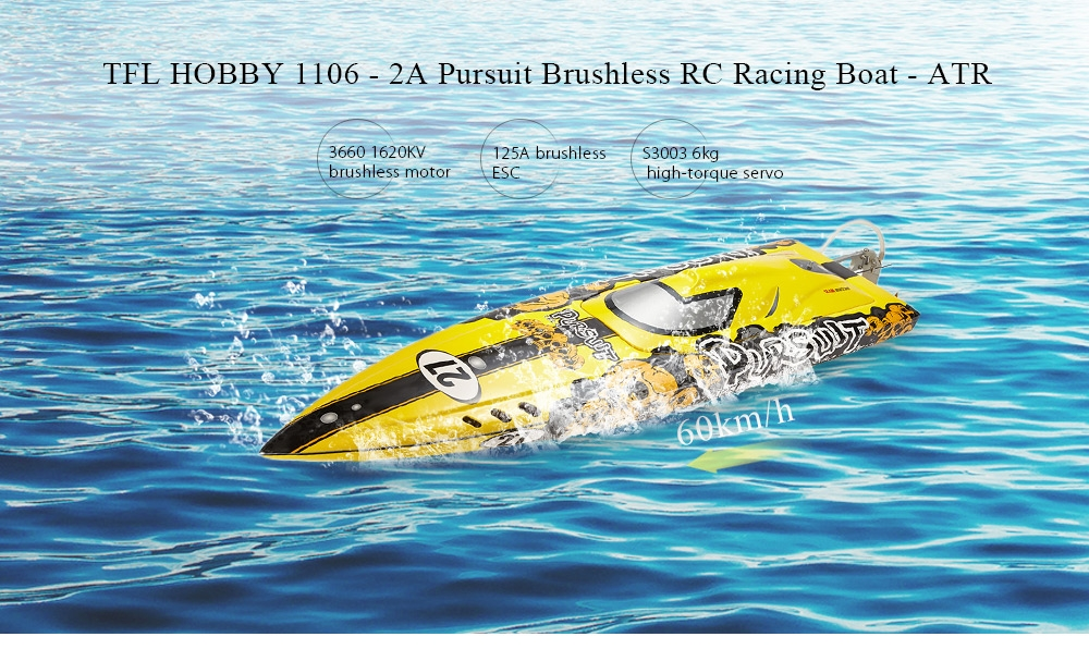 TFL HOBBY 1106 - 2A Pursuit RC Racing Boat - ATR