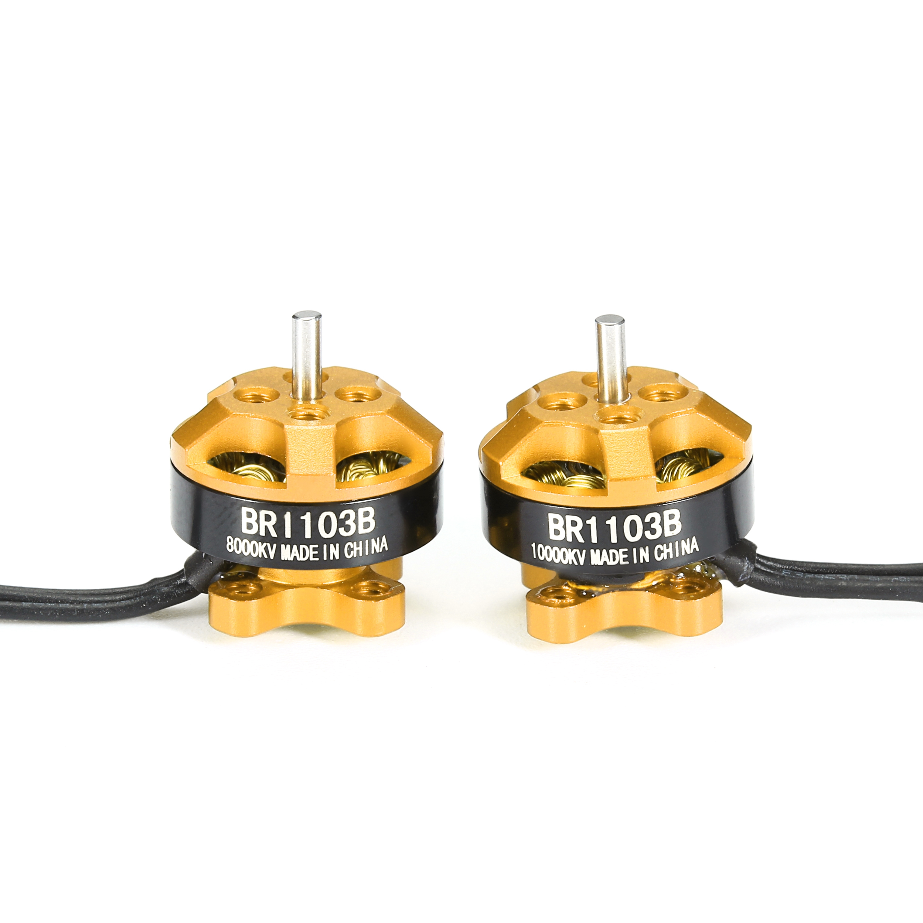 Racerstar Racing Edition 1103 BR1103B 8000KV 10000KV 1-3S Brushless Motor Gold For 50 80 100 Frame