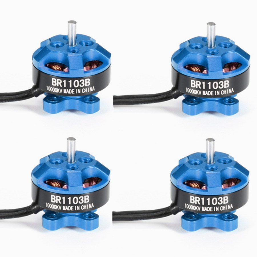 4X Racerstar Racing Edition 1103 BR1103B 10000KV 1-3S Brushless Motor Dark Blue For 50 80 100 Frame