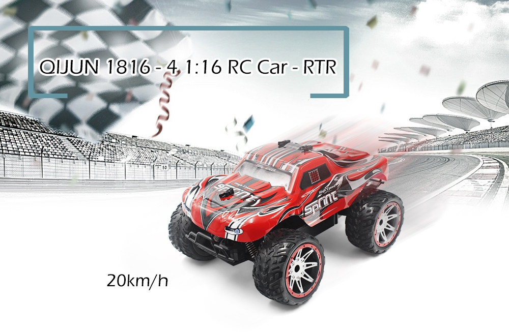 QIJUN 1816 - 4 1:16 RC Car - RTR