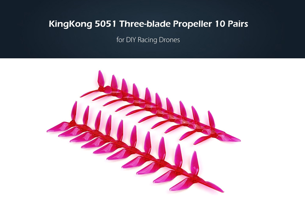 KingKong 5051 Three-blade Propeller 10 Pairs