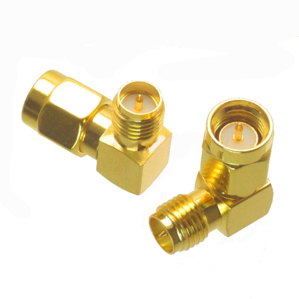 5PCS SMA Male to RP-SMA Female Right Angle RF Adapter Connector
