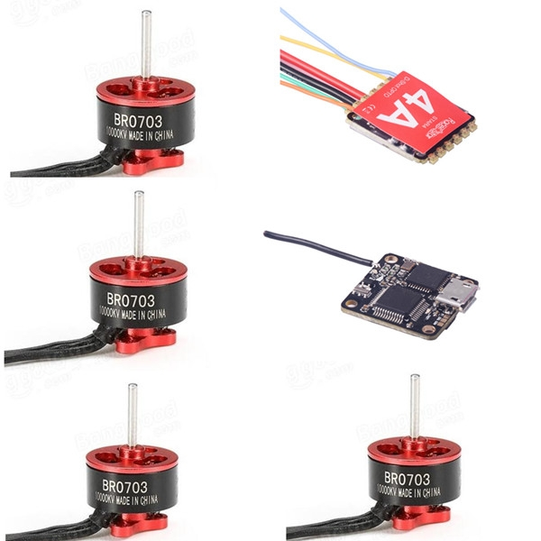 16x16mm Racerstar F3D8 F3 FC Built-in Receiver & Star4 4A BL_S DShot ESC & 4 PCS 0703 10000KV Motor