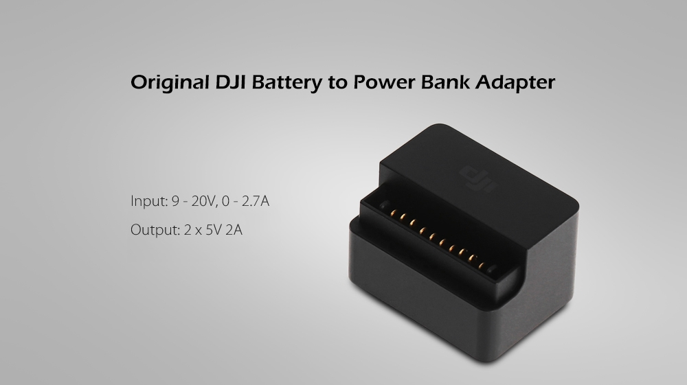 Original DJI Battery to Power Bank Adapter