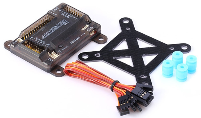 Spare Part ARDUCOPTER V2.8 APM2.8 Flight Controller + Anti - shock board + Multi - head Wire for Multirotor Drone