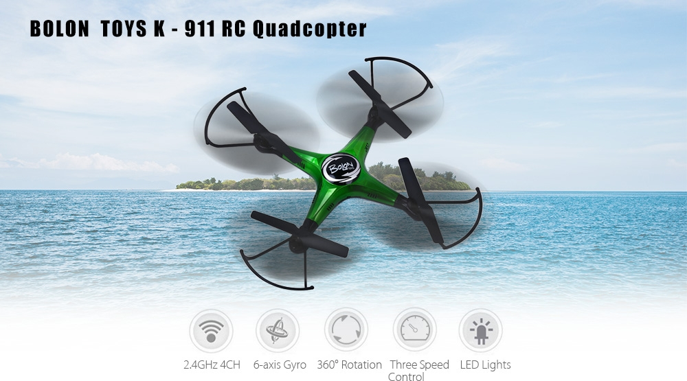 BOLON TOYS K - 911 2.4GHz RC Quadcopter RTF