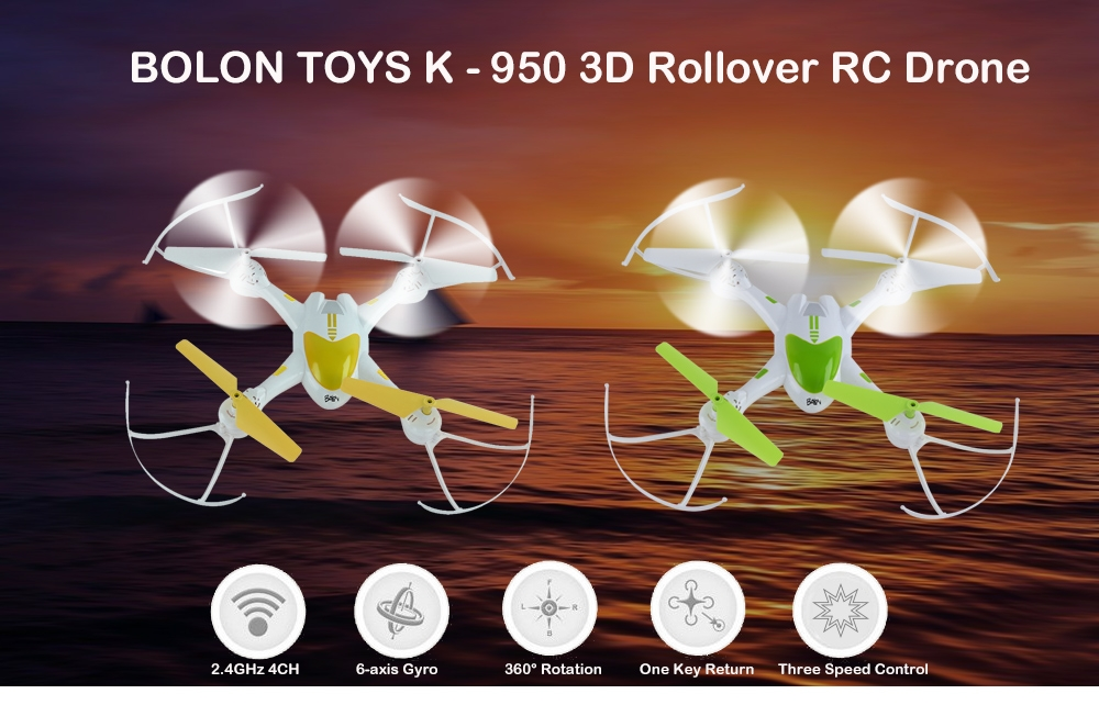 BOLON TOYS K - 950 2.4GHz RC Quadcopter RTF