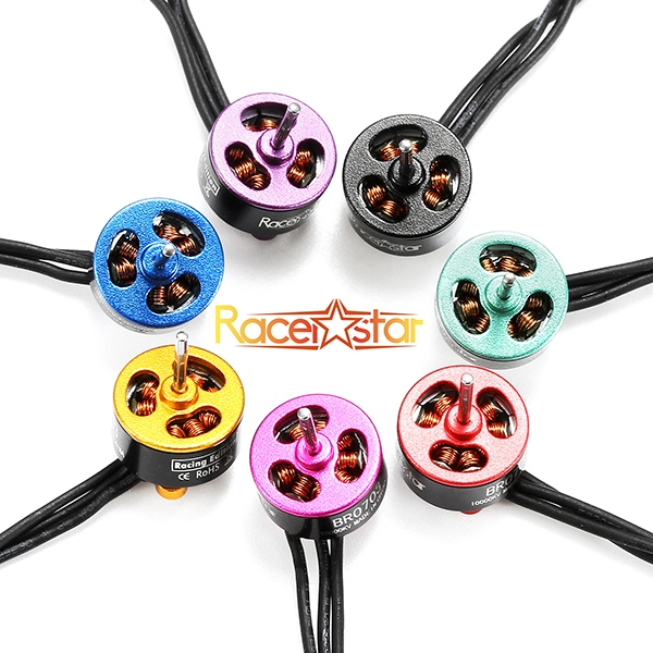 20X Racerstar Racing Edition 0703 BR0703 10000KV 1-2S Brushless Motor Green For 60 80 100 FPV Frame