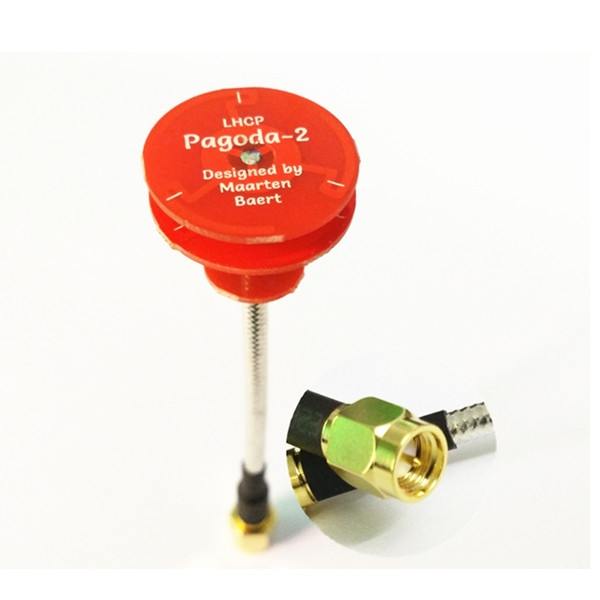 5.8 GHz Pagoda-2 Omnidirectional FPV Flat Panel Antenna LHCP/RHCP SMA Male