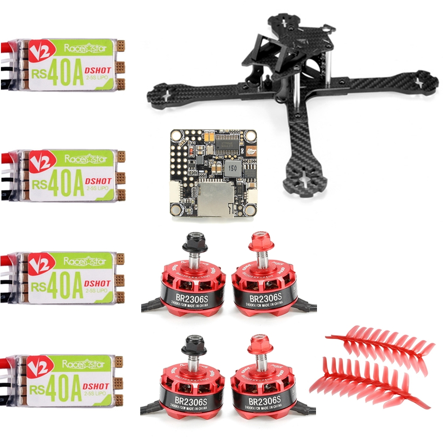 Realacc Lion210 FPV Racing X Frame w/ Racerstar BR2306S 2400KV Motor RS40A V2 BLHELI_S 5048 Prop F4