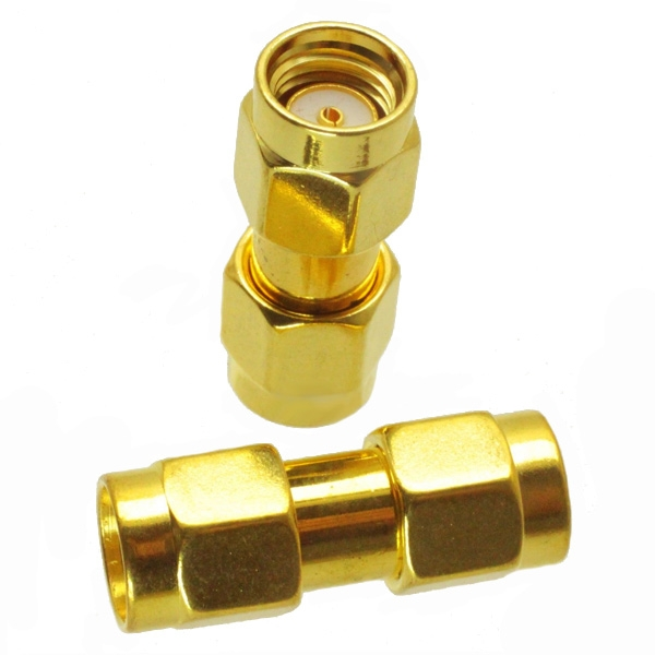 3PCS RP-SMA Male to RP-SMA Male RF Connector Adapter RP-SMA-JJ