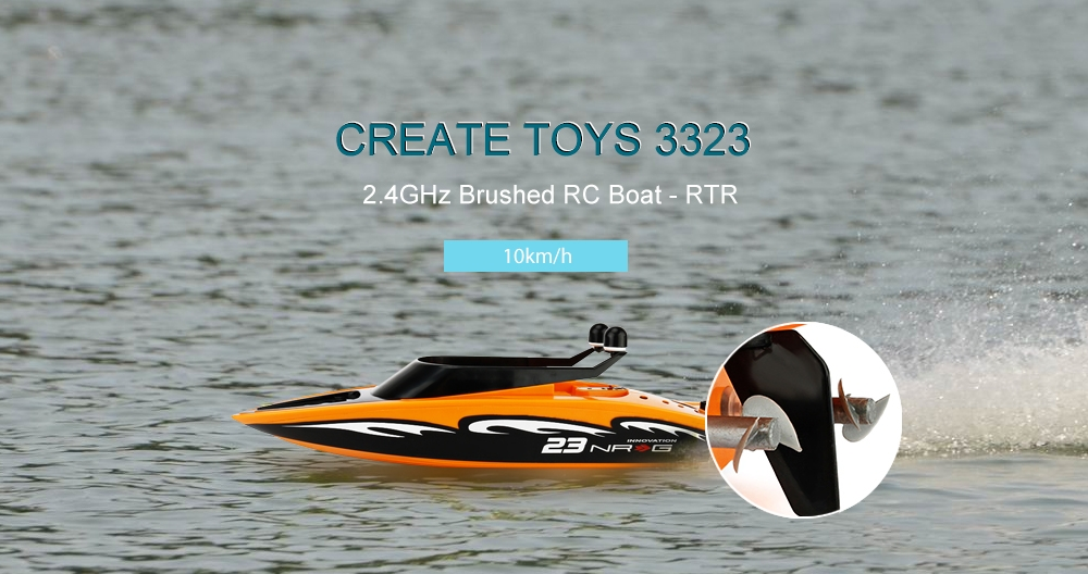 CREATE TOYS 3323 2.4GHz Brushed RC Boat - RTR