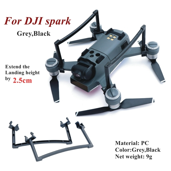 Landing Gear Skid Kit Extended Riser Height for DJI Spark RC Quadcopter