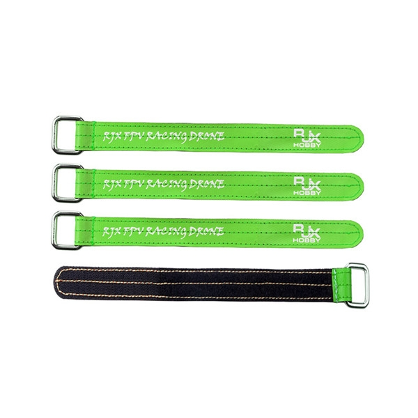 4 PCS RJX Magic Tie Down Anti-skid Battery Strap with Metal Clasp for RC Battery
