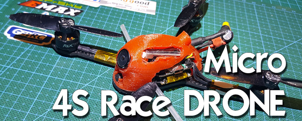 130mm Micro 4S Race drone