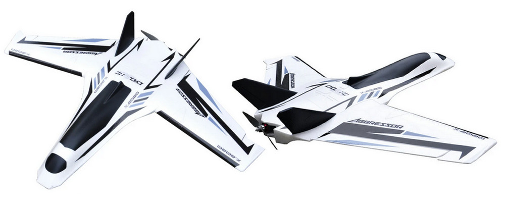 Aggressor 1200mm FPV wing for long range and joy fly