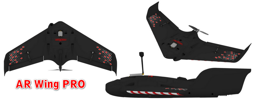 Sonicmodell AR Wing Pro 1000mm Wingspan - World first DJI HD FPV wing