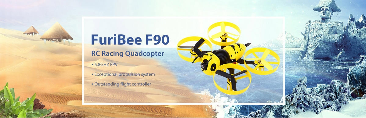 FuriBee F90 90mm Wasp FPV Racing Drone DIY Kit - discounts