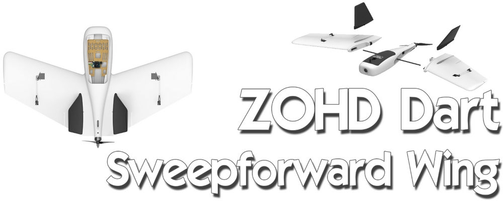 ZOHD Dart Sweepforward Wing 635mm Wingspan FPV EPP Racing Wing